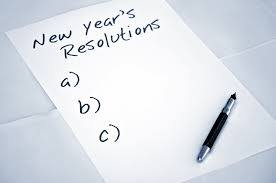 New Year Resolutions…