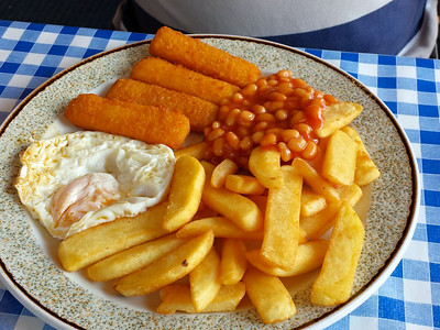 Fish Fingers, Chips and Beans…