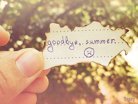 Summer is over!